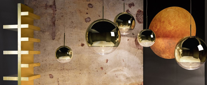 Suspension mirror ball or o40cm h38cm tom dixon normal