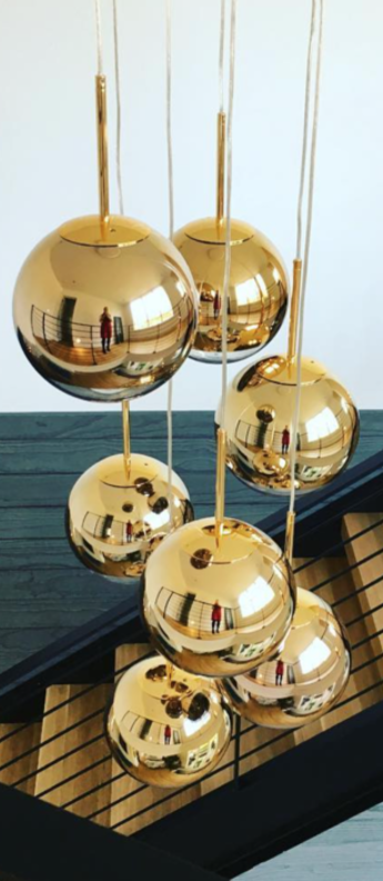 Suspension mirror ball or o40cm h38cm tom dixon normal