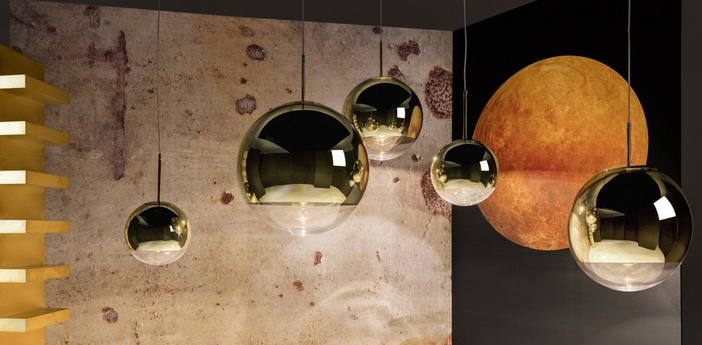 Suspension mirror ball or o50cm h48cm tom dixon normal