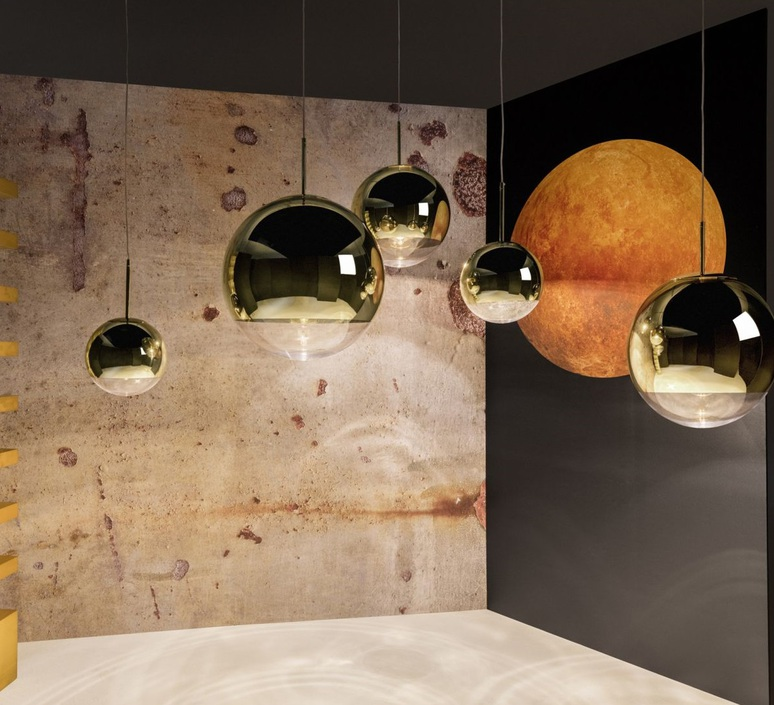 Pendant light, Mirror Ball, gold, Ø50cm, H48cm - TOM DIXON - Nedgis ...
