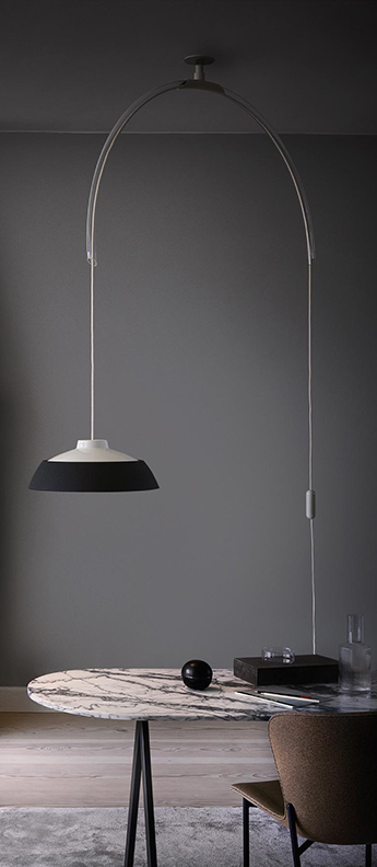Suspension model 2129 gris blanc led 2700k 1600lm l145cm h123 5cm astep normal
