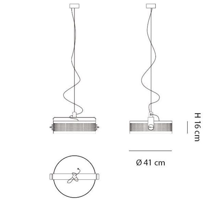 Modena area 18 suspension pendant light  martinelli luce 2099 l 1 ne  design signed 43479 product