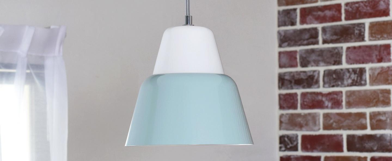 Suspension modu bleu gris o21cm h20cm teo normal