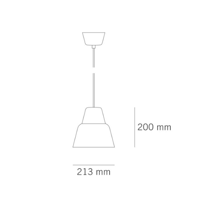 Modu lena billmeier et david baur suspension pendant light  teo t0012m gl000 bg7542  design signed 33298 product