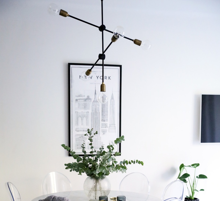pendant light molecular black brass plated h78cm. Black Bedroom Furniture Sets. Home Design Ideas