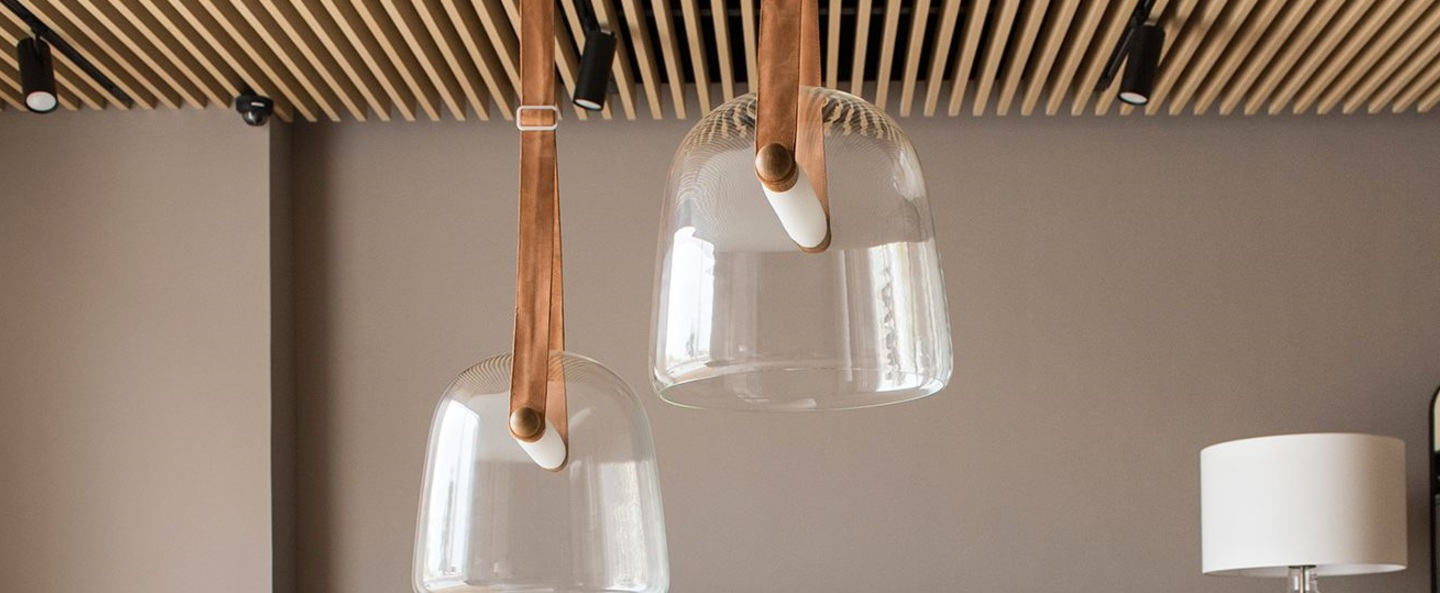 Suspension mona large transparent chene led o38cm h38cm brokis normal