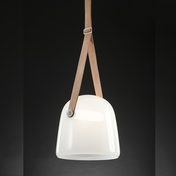 Suspension mona medium opale chene led o27cm h26cm brokis normal
