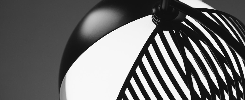 Suspension mondo noir et blanc o28cm h36cm oblure normal