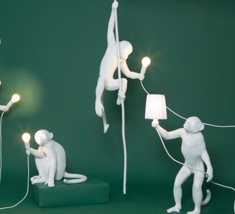 Monkey with rope marcantonio raimondi malerba suspension pendant light  seletti monkey14883  design signed 40600 product