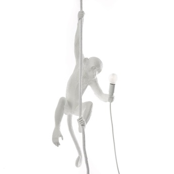 Suspension monkey with rope blanc led cm h80cm seletti normal
