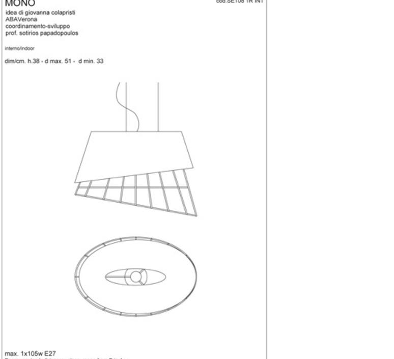 Mono sotirios papadopoulos karman se108 1r int luminaire lighting design signed 19581 product