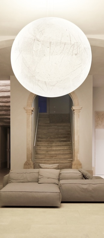 Suspension moon 120 blanc o120cm h120cm davide groppi normal