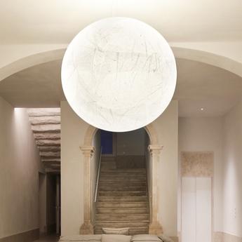 Suspension moon 120 blanc o120cm h120cm davide groppi normal