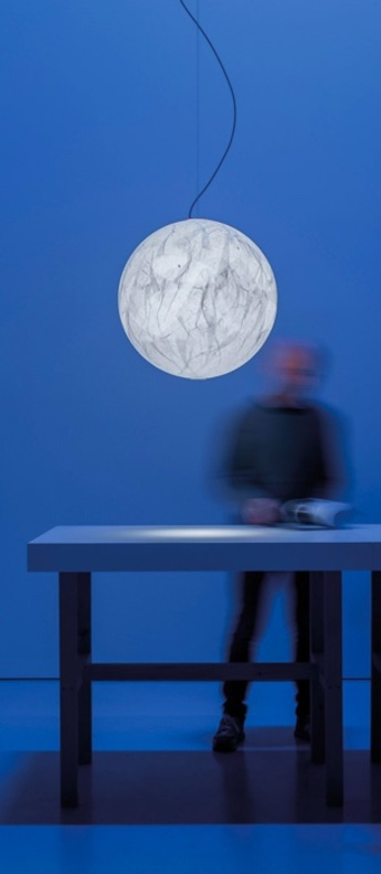 Suspension moon 60 blanc led 2700k 1521lm o60cm h60cm davide groppi normal