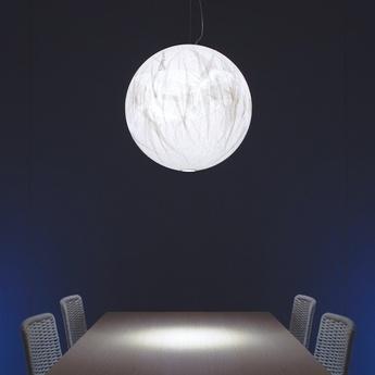 Suspension moon 60 de blanc o60cm h60cm davide groppi normal
