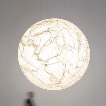 Suspension moon 80 blanc led 2700k 1521lm o80cm h80cm davide groppi normal