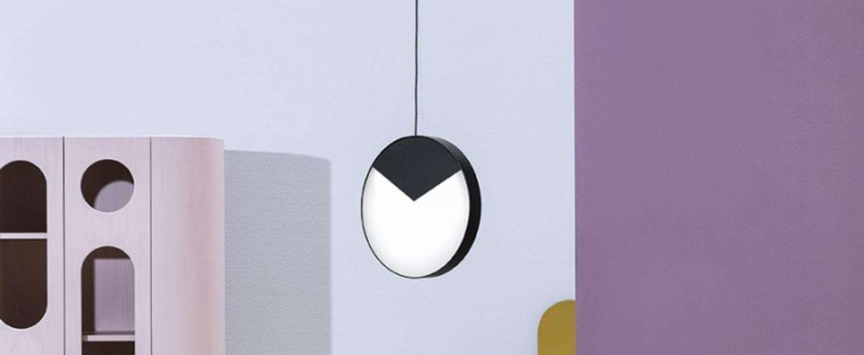 Suspension moon light noir et blanc led o33cm h33cm mm lampadari normal