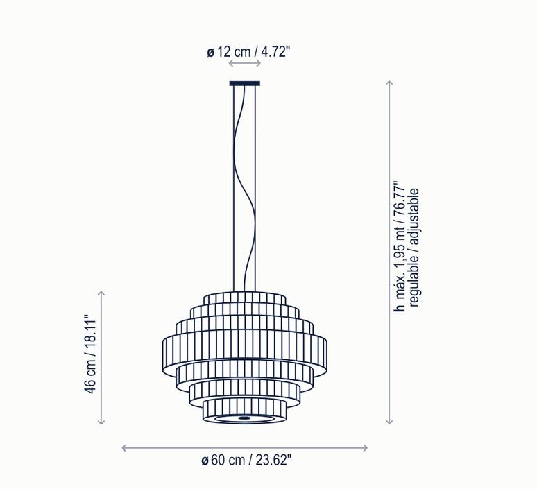 Mos 01 joana bover suspension pendant light  bover 224p617  design signed nedgis 127824 product