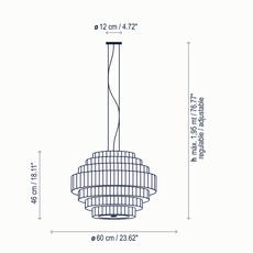 Mos 01 joana bover suspension pendant light  bover 224p617  design signed nedgis 127824 thumb