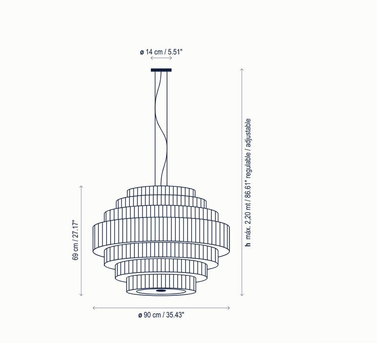 Mos 02 joana bover suspension pendant light  bover 224p622  design signed nedgis 127829 product