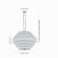 Mos 02 joana bover suspension pendant light  bover 224p622  design signed nedgis 127829 thumb