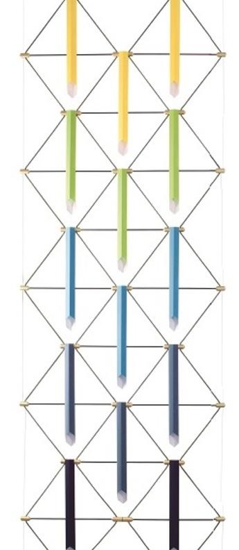 Suspension mozaik 2x5 5 couleurs l90cm h280cm designheure normal