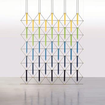 Suspension mozaik 5x5 5 couleurs l225cm h280cm designheure normal