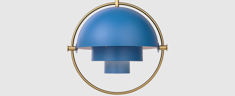 Suspension multi lite bleu nordique o36cm h36cm gubi normal