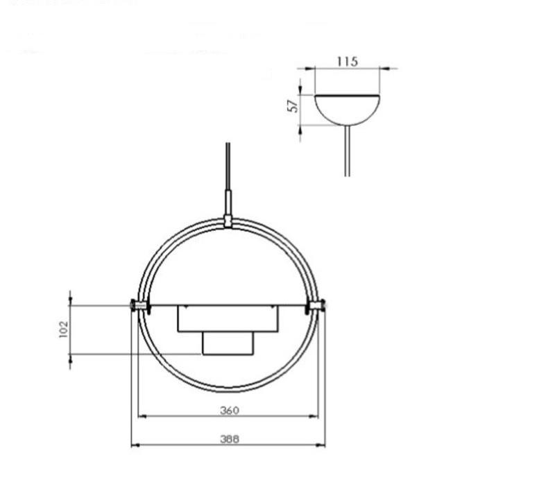Multi lite louis weisdorf suspension pendant light  gubi 10014450  design signed nedgis 77608 product