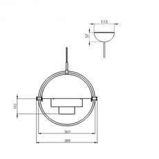Multi lite louis weisdorf suspension pendant light  gubi 10014450  design signed nedgis 77608 thumb