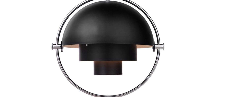 Suspension multi lite noir chrome o36cm h36cm gubi normal