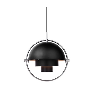 Suspension multi lite noir chrome o36cm h36cm gubi normal