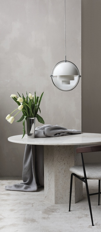 Suspension multi lite pendant brass chrome blanc o36cm h36cm gubi normal