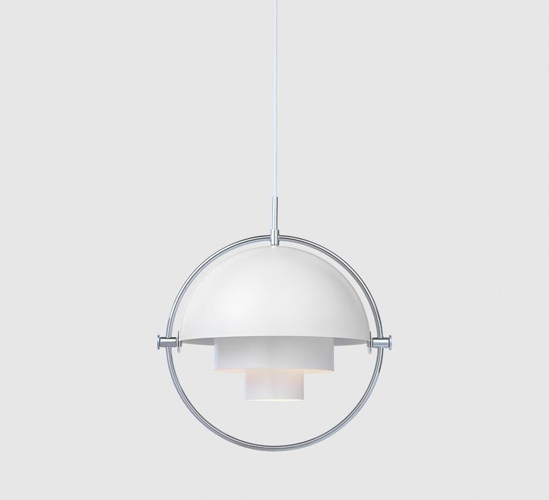 Multi lite pendant brass chrome  suspension pendant light  gubi 007 03102  design signed 39547 product