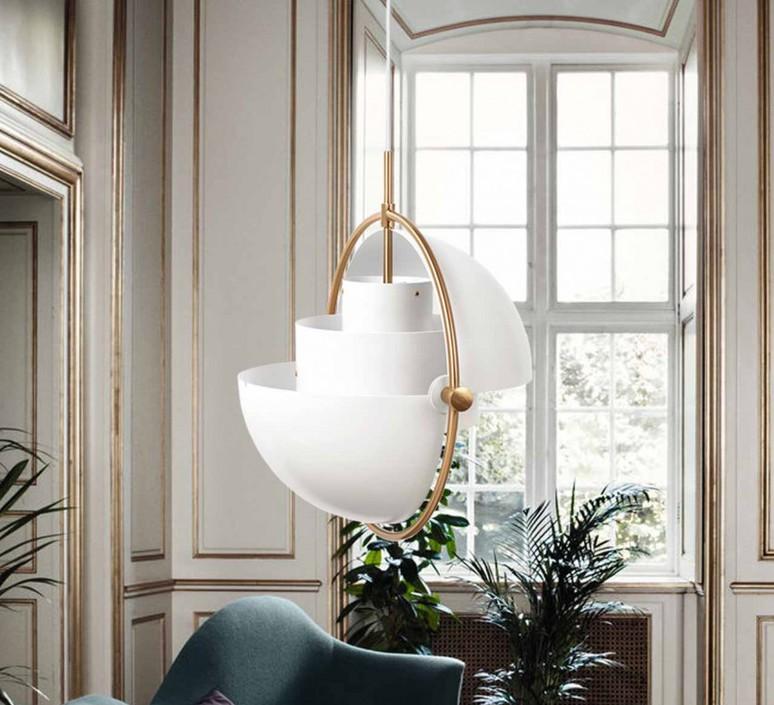 Multi lite pendant brass white  suspension pendant light  gubi 007 03132  design signed 39543 product