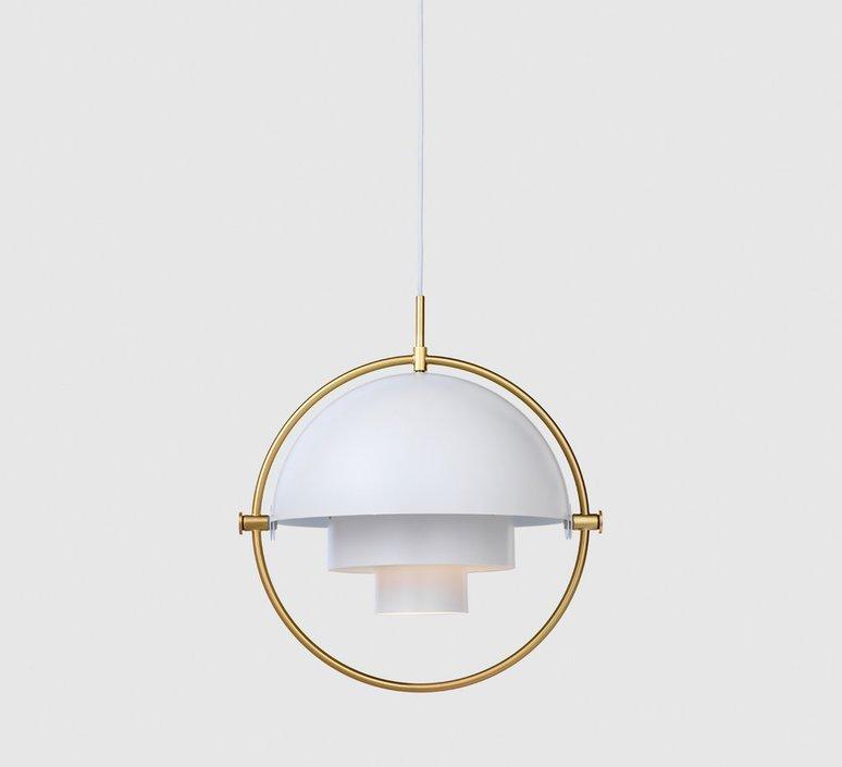 Multi lite pendant brass white  suspension pendant light  gubi 007 03132  design signed 39544 product