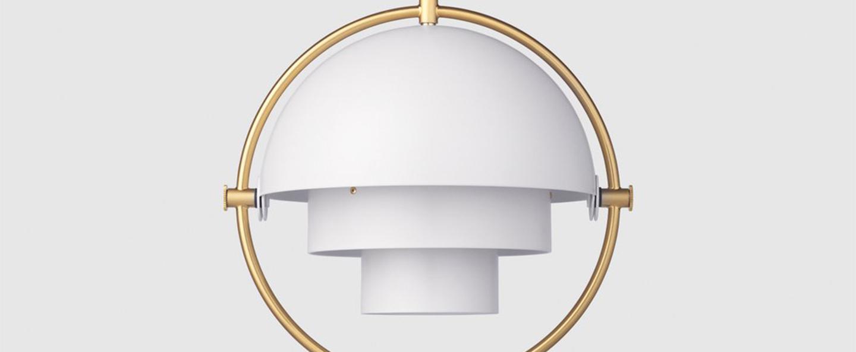 Suspension multi lite small blanc laiton o25 5cm h25 5cm gubi normal