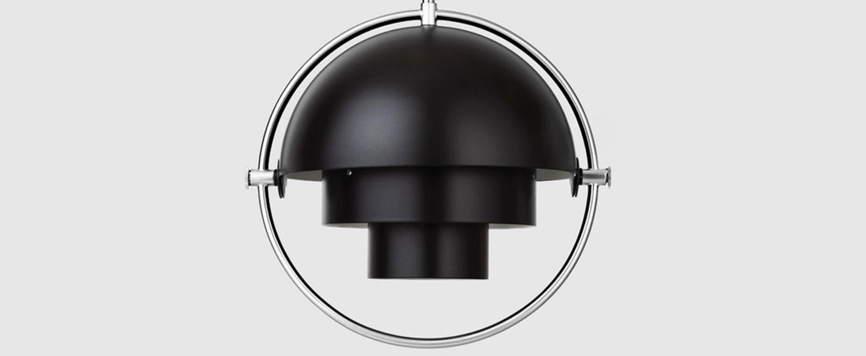 Suspension multi lite small noir chrome o25 5cm h25 5cm gubi normal