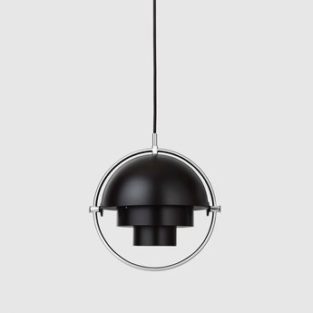 Suspension multi lite small noir chrome o25 5cm h25 5cm gubi normal