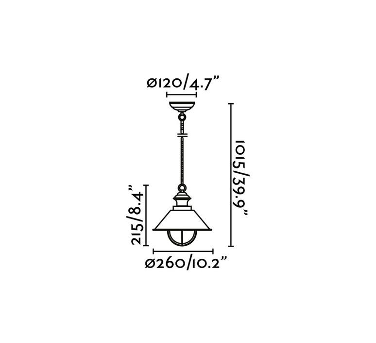 Nautica 1p manel llusca suspension pendant light  faro 71138  design signed nedgis 64339 product