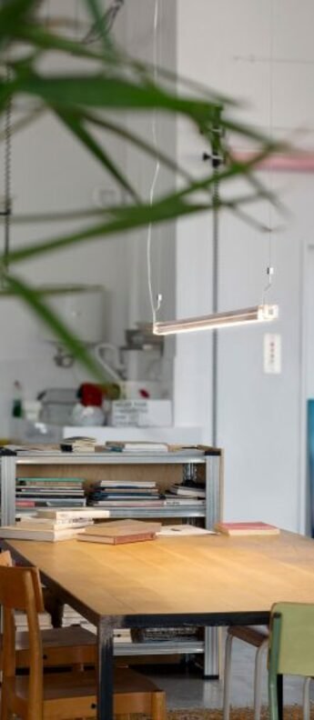 Suspension neon de luz aluminium led 3000k 2200lm on off o94 5cm h5cm marset normal