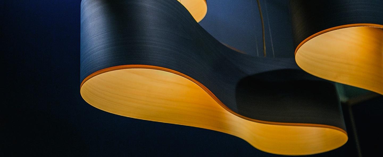 Suspension new wave s turquoise et jaune led h27 5cm l102cm lzf normal
