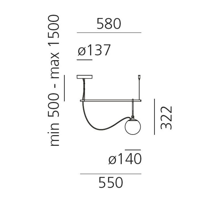 Nh s1 neri et hu suspension pendant light  artemide 1272010a  design signed 60785 product