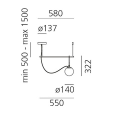 Nh s1 neri et hu suspension pendant light  artemide 1272010a  design signed 60785 thumb