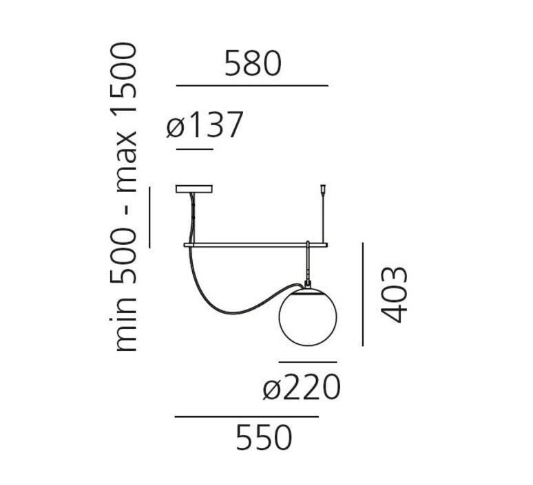 Nh s1 neri et hu suspension pendant light  artemide 1273010a  design signed 60798 product