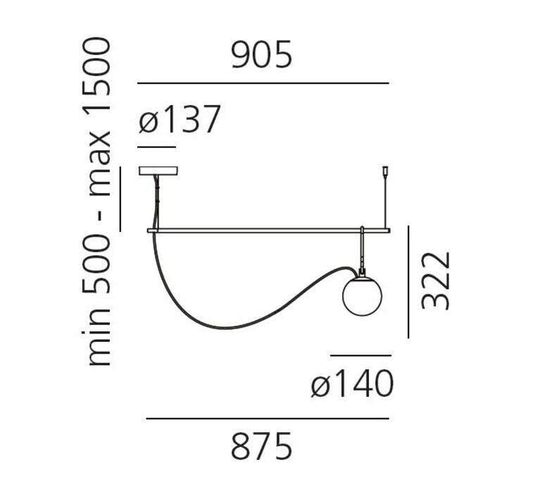 Nh s2 neri et hu suspension pendant light  artemide 1274010a  design signed 60789 product