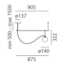 Nh s2 neri et hu suspension pendant light  artemide 1274010a  design signed 60789 thumb
