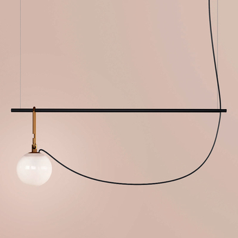 Suspension nh s2 blanc laiton noir l90 5cm h32 2cm artemide normal