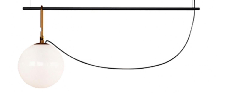 Suspension nh s2 blanc laiton noir l90 5cm h40 3cm artemide normal
