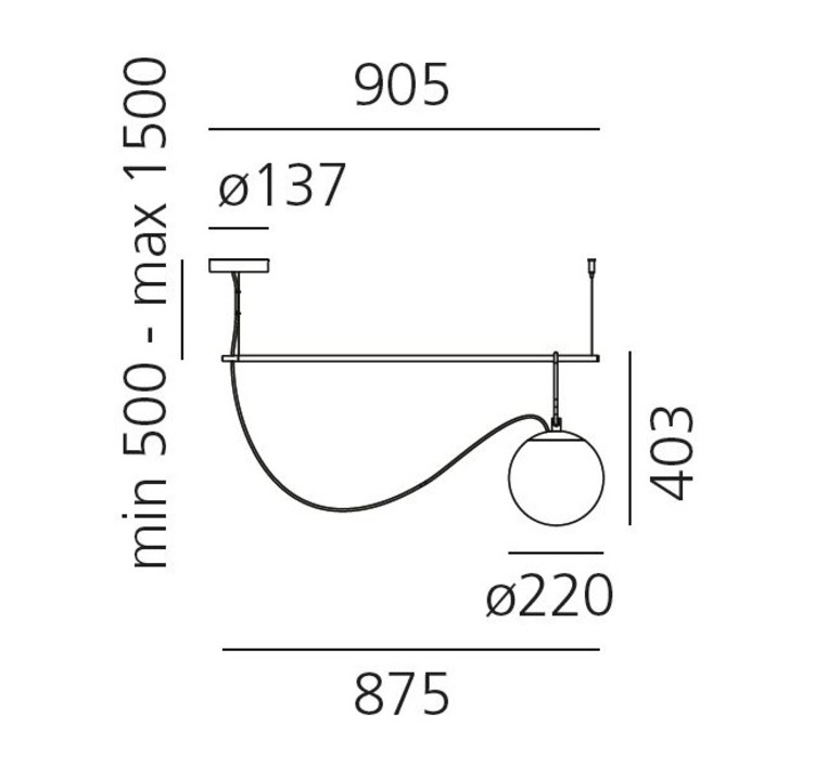 Nh s2 neri et hu suspension pendant light  artemide 1275010a  design signed 60801 product
